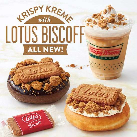 KRISPY KREME with LOTUS BISCOFF